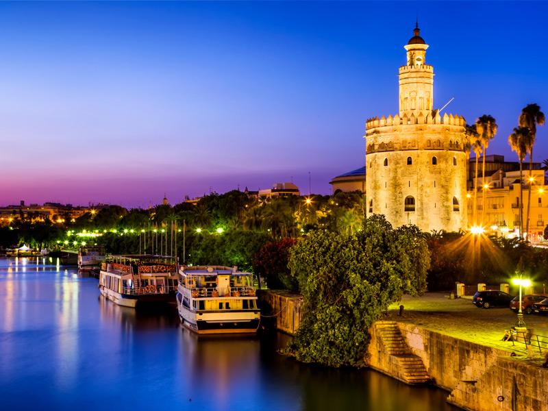 Imagen de la Torre del Oro de Sevilla