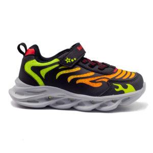 Zapatilla deportiva con luces y velcro