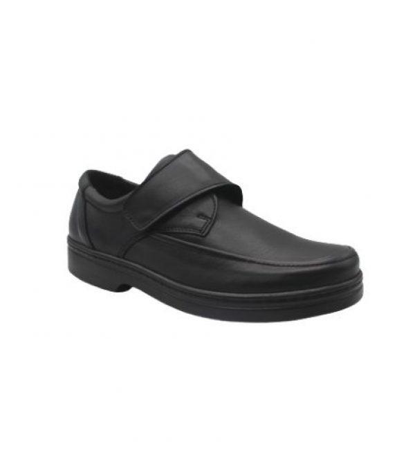 Imagen Lateral del Zapato confort con cierre de velcro