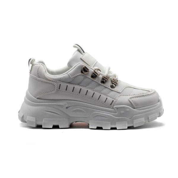 Sneakers de mujer combi blanco-blanco