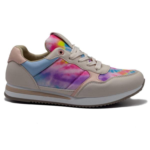 Sneakers de mujer combi con piso fino