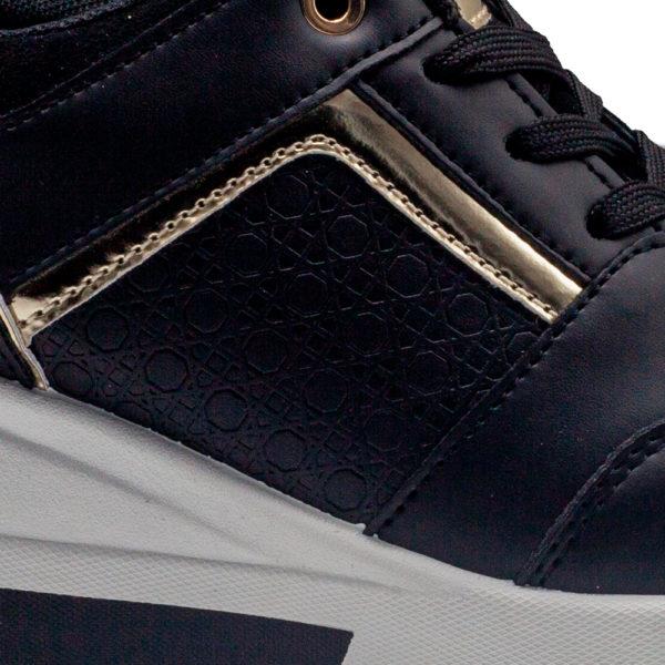 Sneakers de mujer de cordones grabado y con cuña