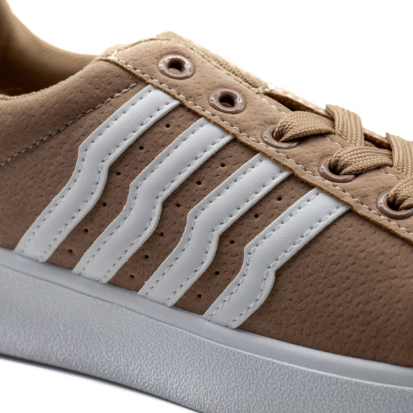 Sneakers de mujer rayas khaki