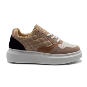 Sneakers de mujer rombos acolchado