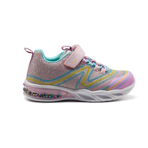 Zapatillas deportivas rosa con luces y purpurina