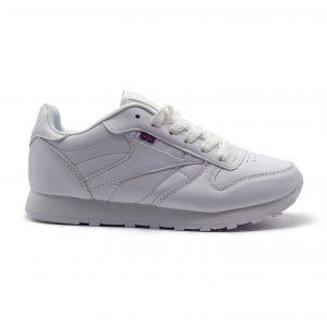 Sneakers básicos con cordones y piso súper ligero