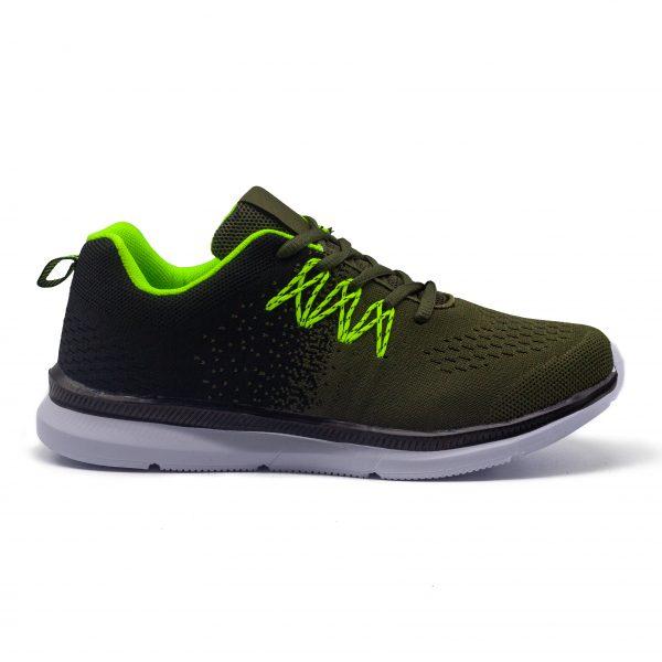 Sneakers verde/negro con plantilla de memoria, extremadamente cómodos