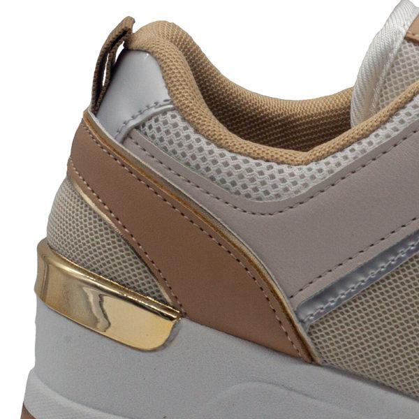 Sneakers de mujer con cuña de rejilla