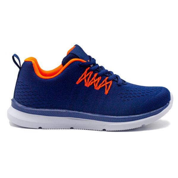 Sneakers marinonaranja con plantilla de memoria, extremadamente cómodos