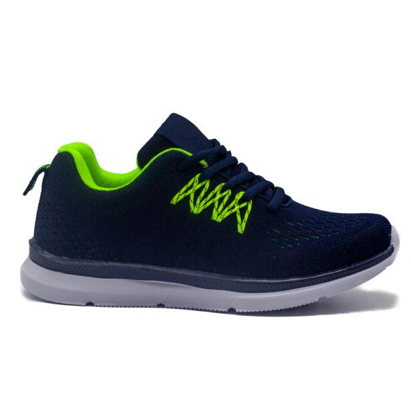 Sneakers marinoverde con plantilla de memoria, extremadamente cómodos