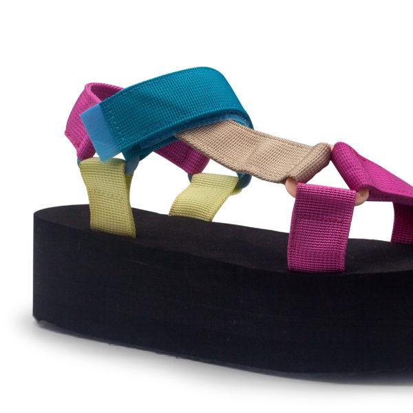 Plataforma multicolores de tiras nylon súper ligeras