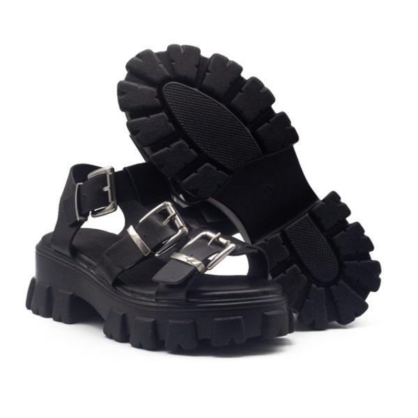 Sandalia hebillas con piso track