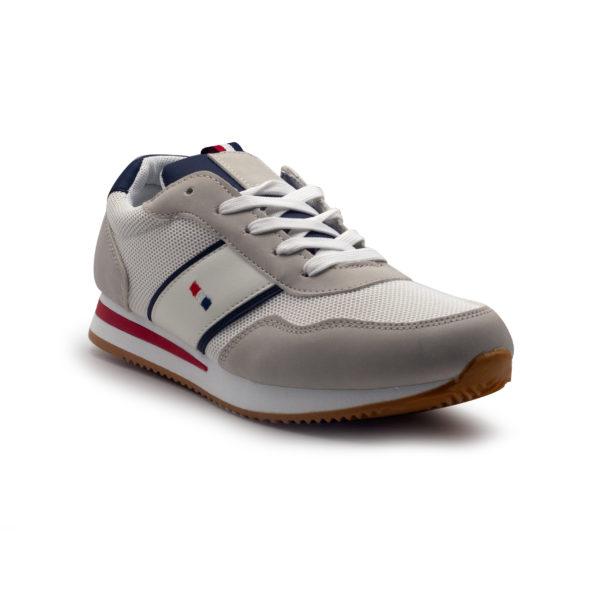 Sneakers con piso fino y bandera