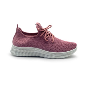 Sneakers de nylon con cordones