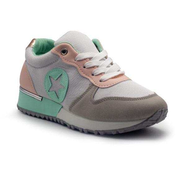 Sneakers estrella con piso fino