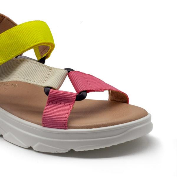 Sandalia plataforma con tiras de nylon