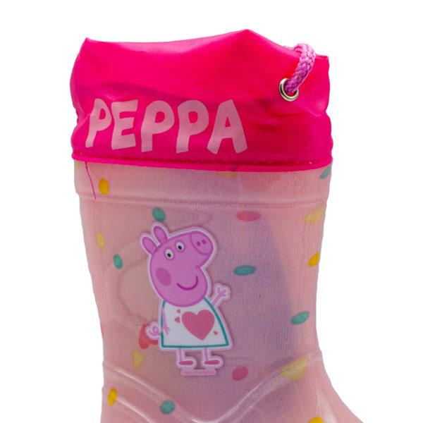 Bota de agua de Peppa Pig con fuelle para ajustarla a medida.