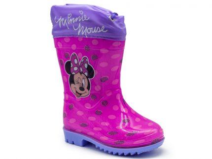 Bota de agua de Minnie Mouse con fuelle para ajustarla a medida.